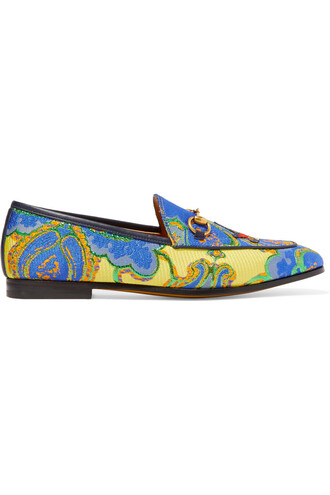 jacquard loafers blue shoes