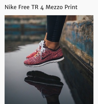shoes nike mezzinoprint pink black white orange runners free runs nikefreeruns
