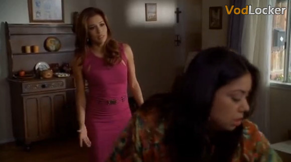 desperate housewives dress gabrielle solis eva longoria pink dress fuchsia dress cut-out dress
