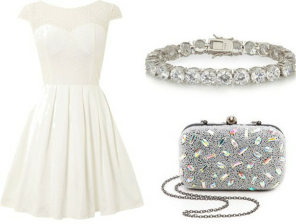 white dress diamonds wallet bracelets