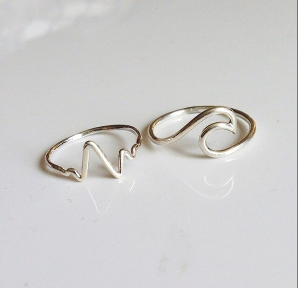 waves ocean jewels ring rings and jewelry ocean design