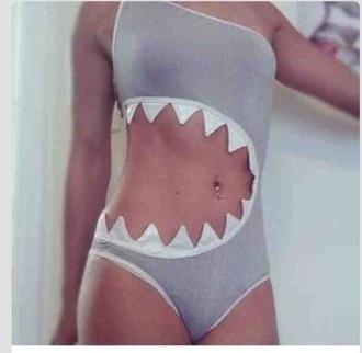 swimwear gray shark bite