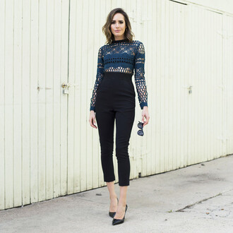 louise roe blogger jumpsuit shoes jewels