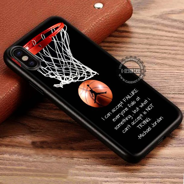 phone cover, sporty, quote on it phone case, michael jordan ...
