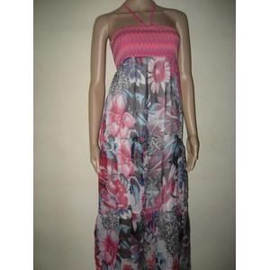 Produit maxi robe fleurs rose manaia