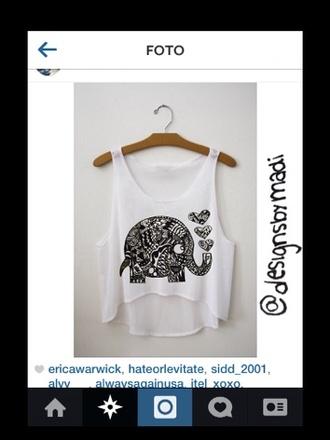 shirt fresh tops t-shirt elephant