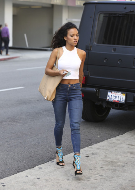 top jeans sandals karrueche sexy shoes