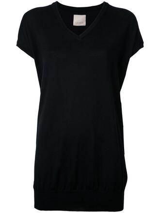 top long women black knit