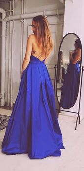 dress,maxi dress,blue,formal dress,open back,blue dress,open back dresses,kenza,royal blue dress,royal blue,tattoo,long dress,long hair,trendy,ball,formal,formal event outfit,wedding clothes,wedding,backless prom dress,cobalt blue,gorgeous dress,musthave,long prom dress,2016 prom dresses,a-line prom dresses,navy blue prom dress,satin prom dress,sleeveless prom dress