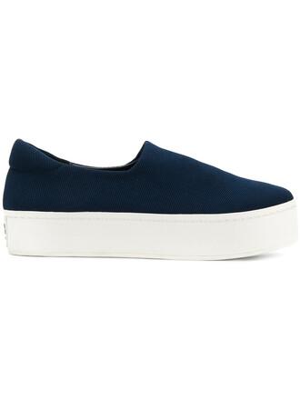 women sneakers platform sneakers leather cotton blue neoprene shoes