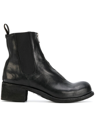 women classic boots leather black shoes