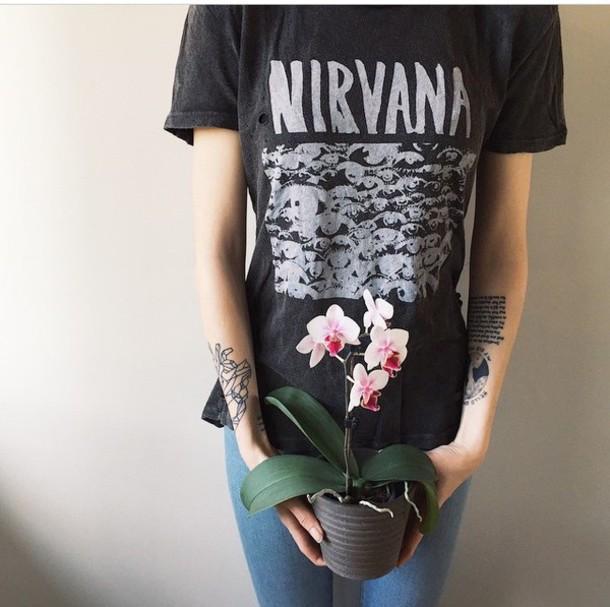 shirt nirvana t-shirt t-shirt t-shirt band t-shirt grunge t-shirt