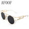 Aliexpress.com : buy [ afoof ] fashion metal frame steampunk sunglasses brand designer women unique round sun glasses men gothic eyewear oculos from reliable glasses ribbon suppliers on afoof glasses