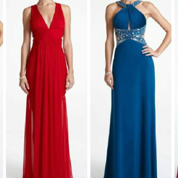 dress prom dress blue prom dress red formal dress diamonds
