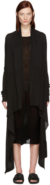 Rick Owens cardigan cardigan long black sweater