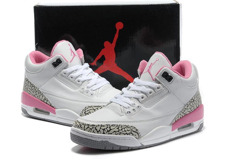 Womens Air Jordans 3 White Cement Grey Pink,Womens Air Jordan 3