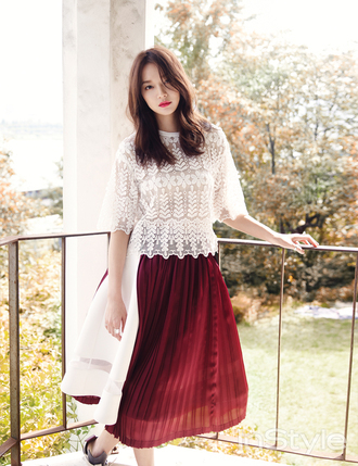 blouse burgundy see through lace