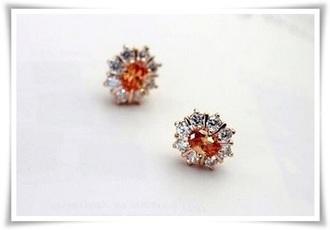 jewels earrings orange