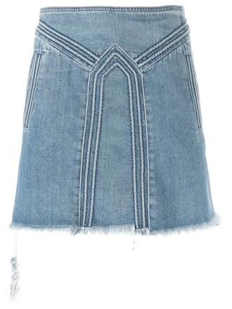 skirt denim skirt denim women cotton blue