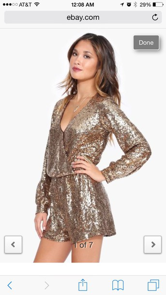 jumpsuit gold sequins