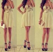 dress,shoes,bag,prom dress,mini dress,party dress,night,classy,nude,brillant,jewels,jumpsuit