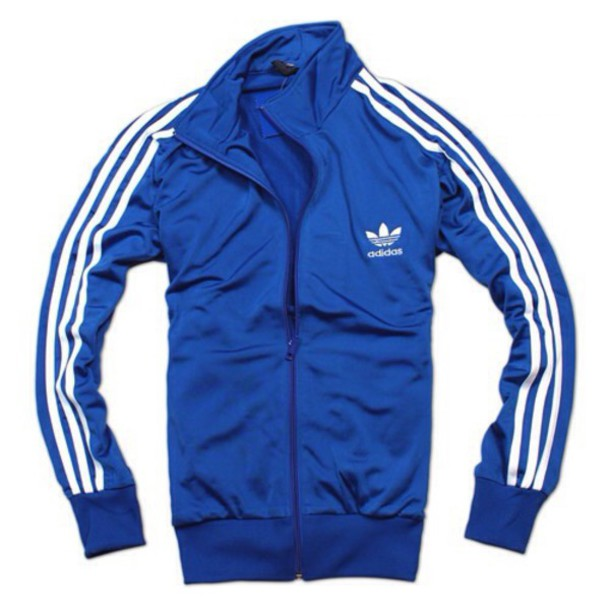 Jacket: adidas, adidas originals, blue, blue and white, urban ...