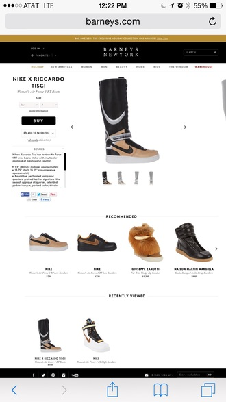 richardo tisci givenchy givenchi shoes air force ones