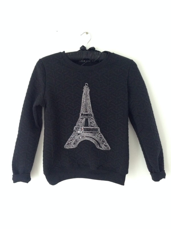 sweater paris pray paris most wanted top fashion jumper swag celebrity style celebrity style steal l.a. style casual soft grunge streetwear urban streetstyle model off-duty pray for paris