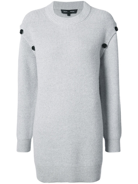 Proenza Schouler sweater women embellished wool grey