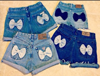 shorts bows high waisted