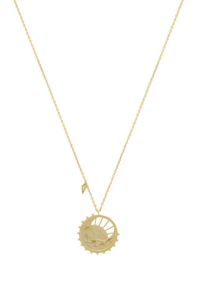 Wanderlust + Co Dawning Of A New Day Necklace in gold / metallic