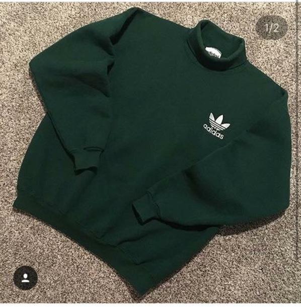 sweater adidas golf green turtleneck sweatshirt long sleeves hoodie