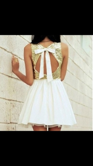 dress white pretty white dress prom dress elegant formal dress pretty dress short prom dress short backless prom dresses gold gold dress short party dresses