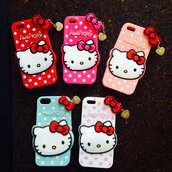 phone cover,hello kitty,hello kitty phone case,iphone case,cute case,heart chain,silicone case