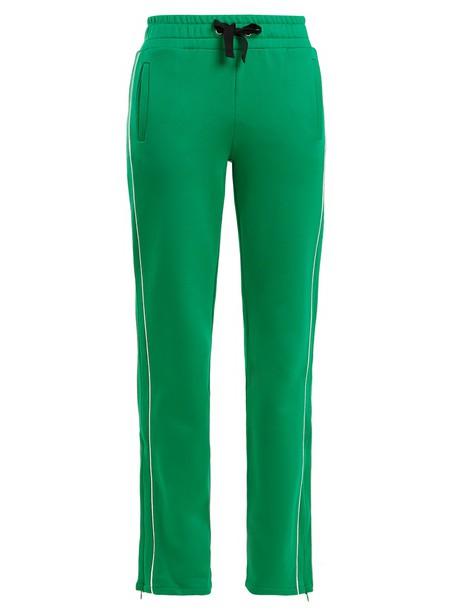 REDValentino pants track pants green