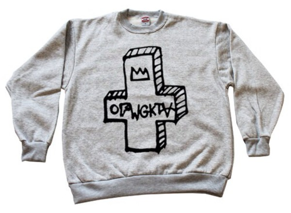 jacket odd future grey sweater