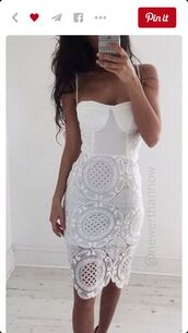 dress,white bodycon midi dress with lace.,zaful,white,style,sunglasses,summer,instagram,fashion,trendy,white lace dress,lace white dress,bodycon,bustier dress,white dress,crochet,crochet dress,lace,lace dress,midi,midi dress,bodycon dress,party dress,sexy party dresses,sexy,sexy dress,party outfits,summer dress,summer outfits,cute,cute dress,girly,girly dress,classy dress,cocktail dress,date outfit,birthday,birthday dress,pool party,romantic dress,romantic summer dress,graduation dress,short prom dress,prom dress,engagement party dress,quinceanera dress