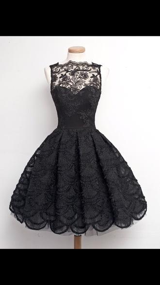 dress black dress lace dress