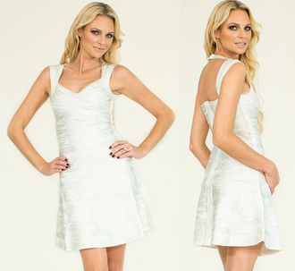 bandage dress myannika dresses celbrity style dress white dress bodycon dress skater dress glamour dress celebrity style clubwear
