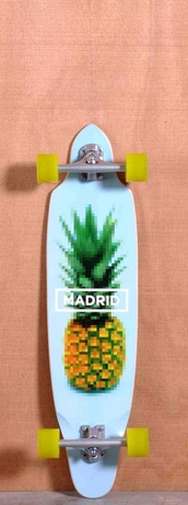 jewels,longboard,pineapple,cali,skateboard
