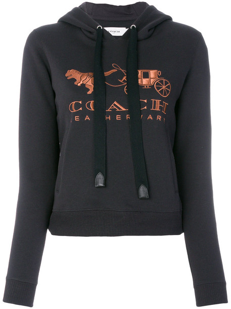 coach hoodie women cotton black sweater