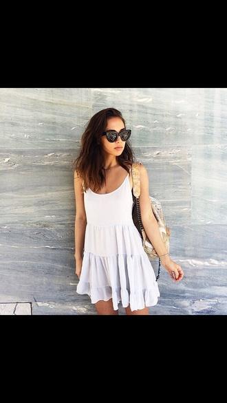 dress casual dress white dress
