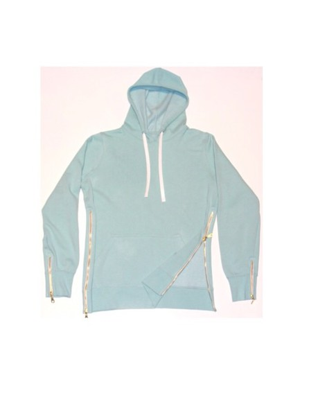 tiffany sweater smug white leather jacket tiffany color gold zipper hoodie dope ish dope trill