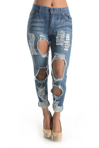 Super Destroyed Denim Jeans