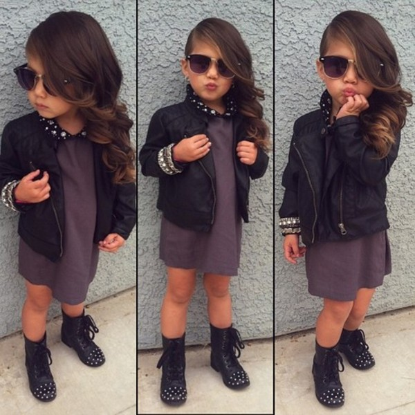 Shoes: girl, rock, spikes, kids fashion, toddler, jacket, cute ...