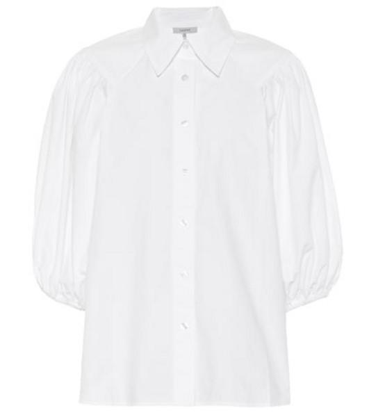 Ganni Cotton poplin shirt in white