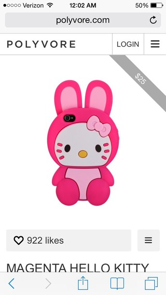 jewels hello kitty phone case bunny pink magenta