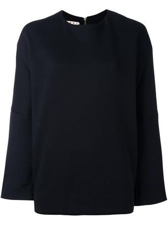 blouse zip blue top