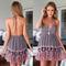 Tangerine edge halter dress – dream closet couture