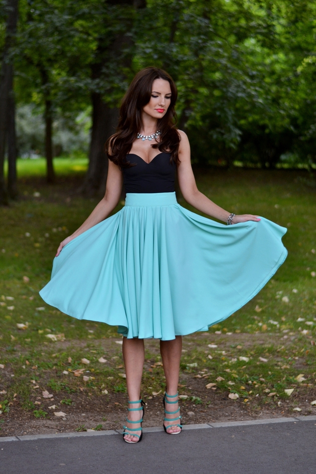 Fairytale collection: minty green full skirt